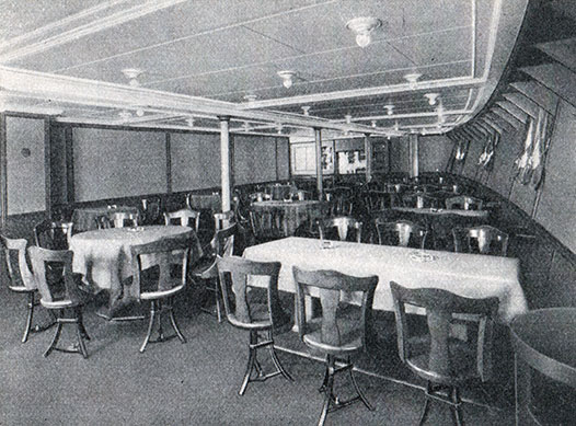 Photo 05 - Third Class Smoking Room On The S.S. New York