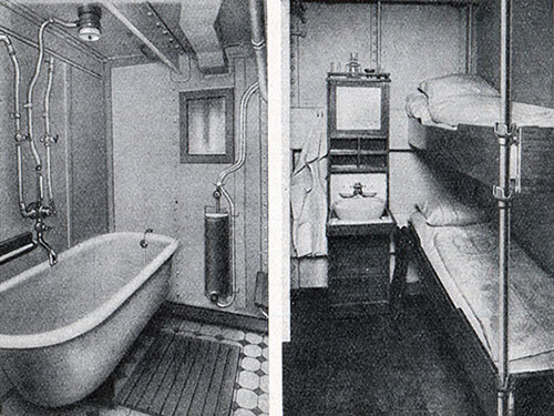 Photo 06 - Third Class Bath And Stateroom on the SS New York