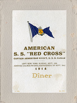 1914-09-13 Ships List for the S.S. Red Cross