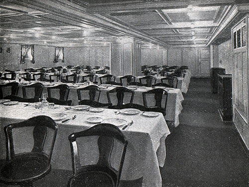 Third Class Dining Room on the SS Columbus