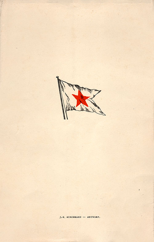 Back Cover, Red Star Line S.S. Belgenland 19 July 1924 Voyage