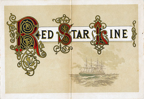 Front Cover, Red Star Line SS Friesland Cabin Class Passenger List - 7 May 1892.
