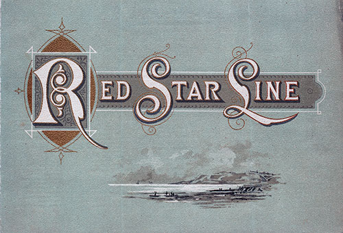 Front Cover, Red Star Line SS Friesland Cabin Class Passenger List - 20 July 1895.