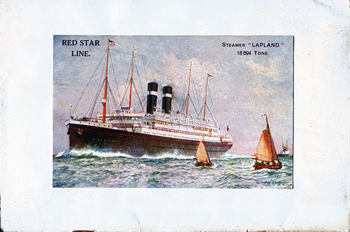 Painting of the SS Lapland of the Red Star Line on the Back Cover - 2 November 1929