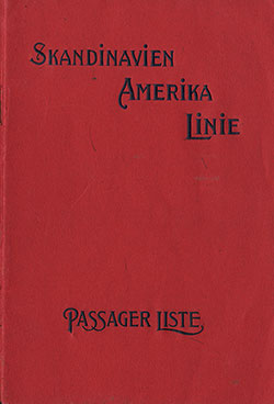 Front Cover, SS United States Passenger List - 15 May 1924