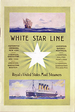 Passenger Manifest, R.M.S. Baltic, White Star Line, April 1922, Liverpool to New York