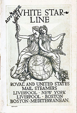 Passenger Manifest, SS Celtic, White Star Line, August 1904, Liverpool to New York