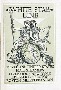 Passenger Manifest, SS Cretic, White Star Line, July 1904, Liverpool to Boston
