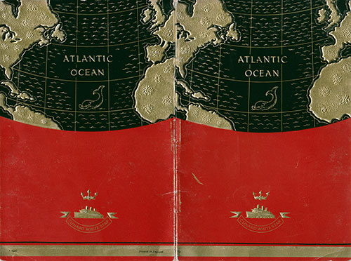 Cover, S.S. Georgic Passenger List 17 October 1936