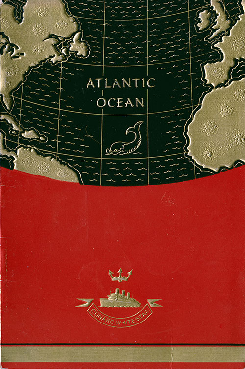 Front Cover, S.S. Georgic Passenger List 24 July 1937