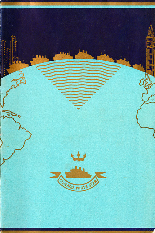 Front Cover, SS Georgic Passenger List - 8 July 1939
