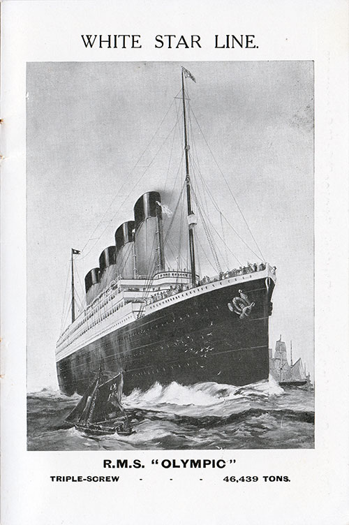 "RMS ""OLYMPIC"" TRIPLE-SCREW	- 46,439 TONS"