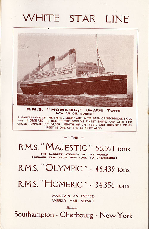 RMS Homeric - Now an Oil Burner