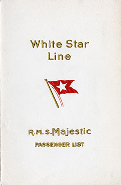 1929-04-20 Ships List for the S.S. Majestic