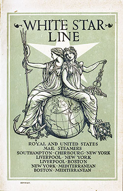Passenger Manifest, SS Oceanic, White Star Line, November 1907, Southampton to New York