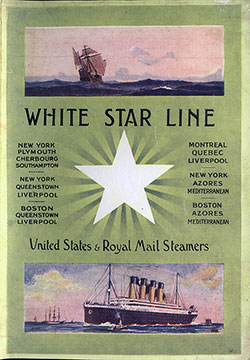 Front Cover of the First Class Passenger List for the RMS Titanic