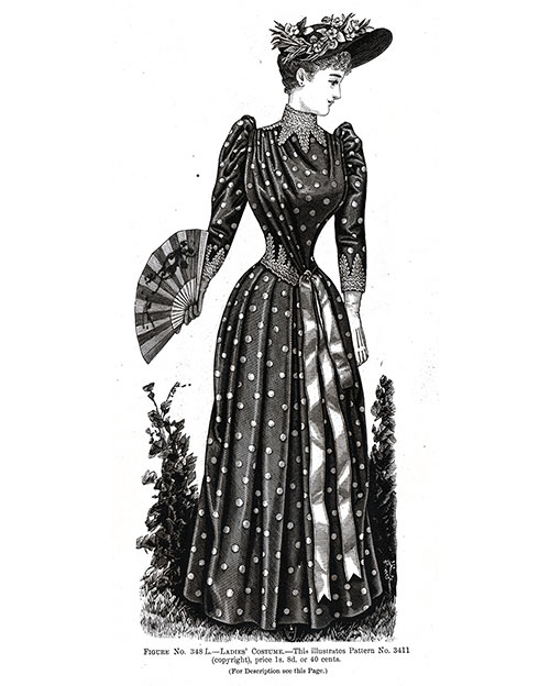 Ladies Costume 348 L - 1890
