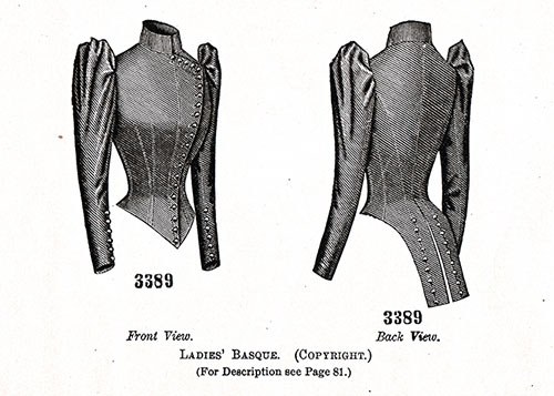 Ladies' Basque Pattern No. 3389.