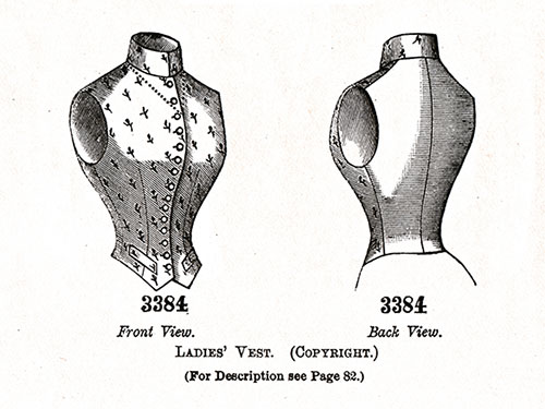 LADIES' VEST No. 3384.