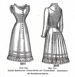 Ladies' Combination Corset-Cover and Under-Skirt No. 3377