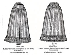 Ladies Divided Skirt No. 3376