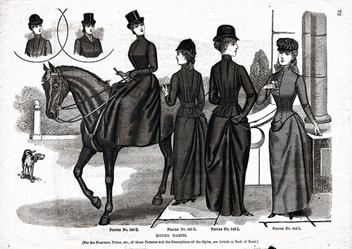 Ladies and Teens Riding Garments 1890