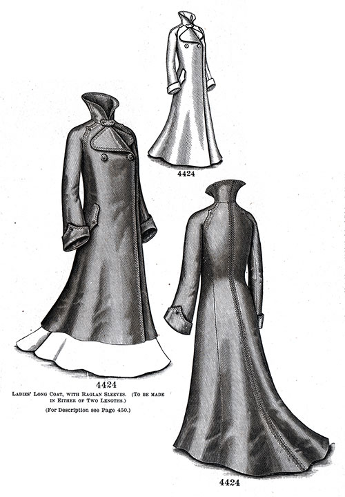 Ladies' Long Coat No. 4424