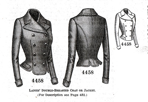 Ladies' Double-Breasted Coat or Jacket No. 4458