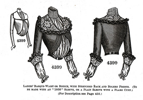 Ladies' Basque-Blouse or Bodice No. 4399