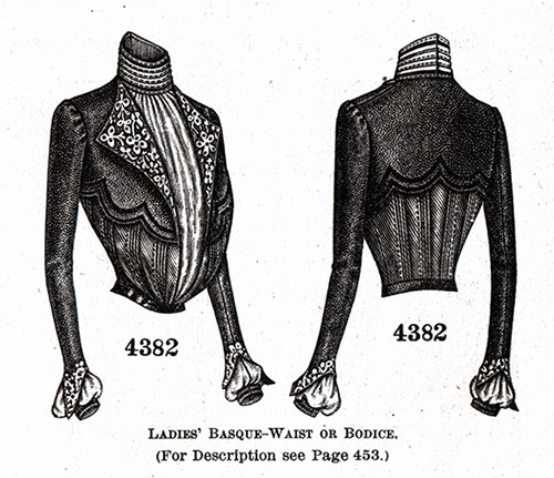 Ladies' Basque-Blouse or Bodice No. 4382
