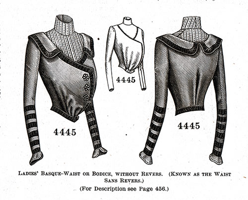 Ladies' Basque-Blouse or Bodice No. 4445