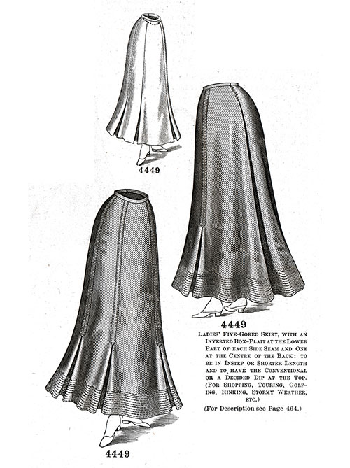 Ladies' Five-Gored Skirt No. 4449