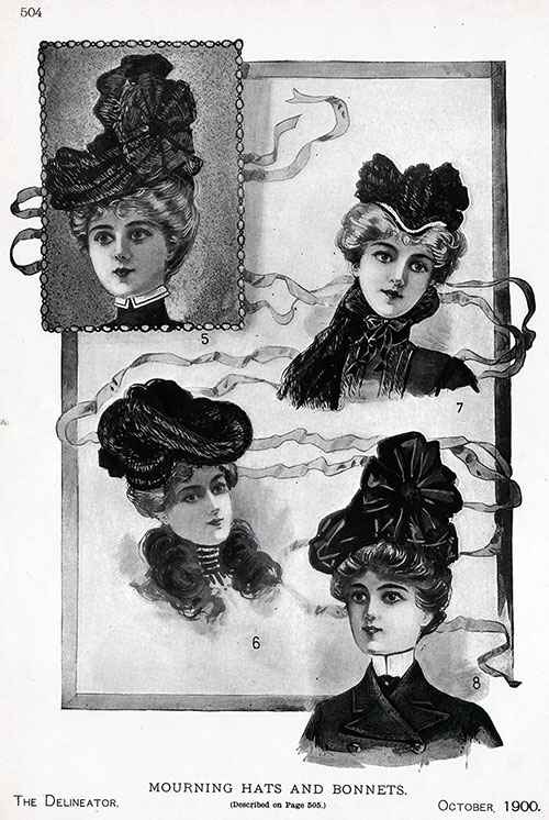 Mourning Hats and Bonnets
