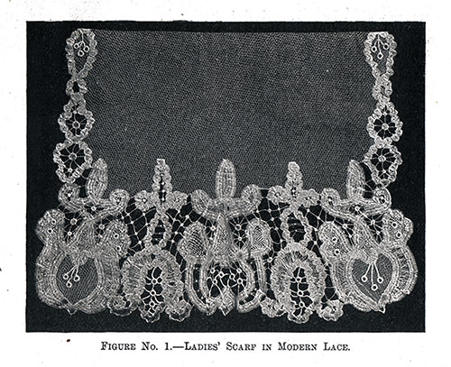 Ladies' Scarf in Modern Lace