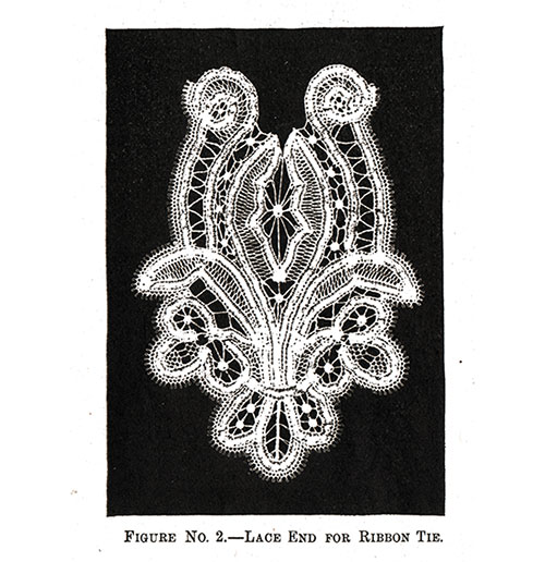 Lace End for Ribbon Tie