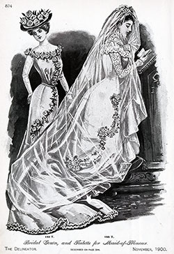 Bridal Gown, and Dress for Maid-of-Honour