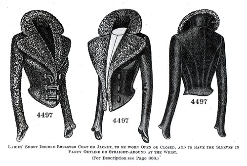 Ladies' Short Double-Breasted Coat or Jacket No. 4497