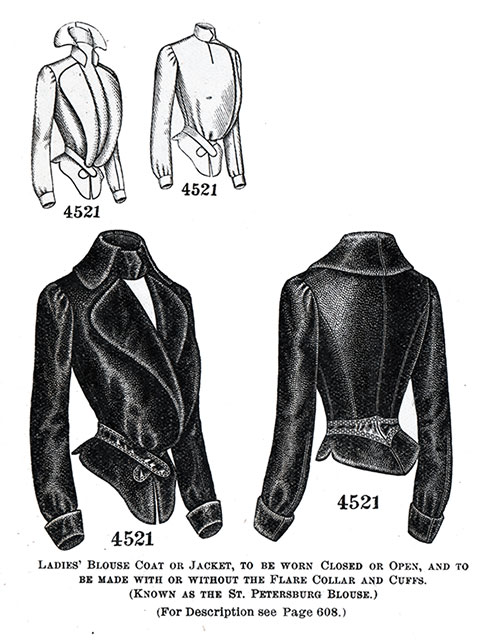 Ladies' Blouse Coat or Jacket No. 4521