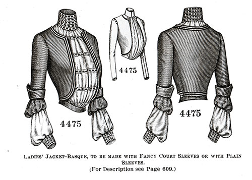 Ladies' Jacket-Basque No. 4475