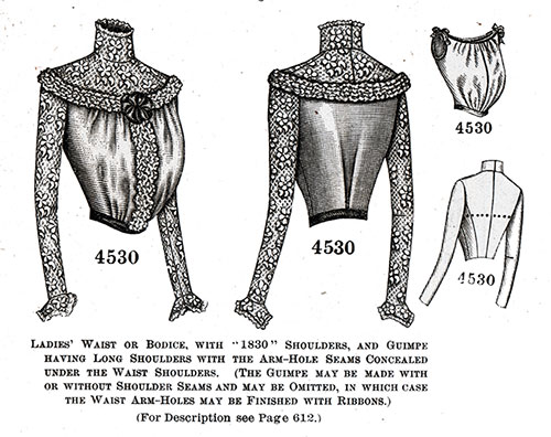 Ladies' Blouse or Bodice No. 4530