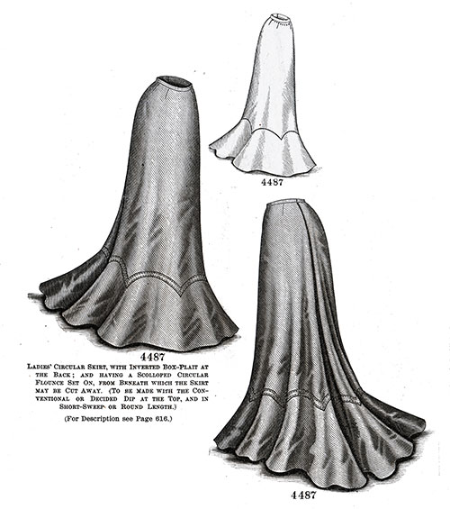 Ladies' Circular Skirt No. 4487