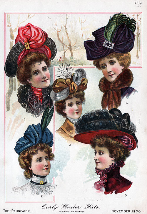 bffaa7510 Ladies Early Winter Hat Fashions - November 1900 | GG Archives