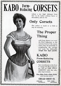 KABO Form-Reducing CORSETS - 1900