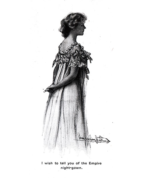 Empire Night Gown 1904