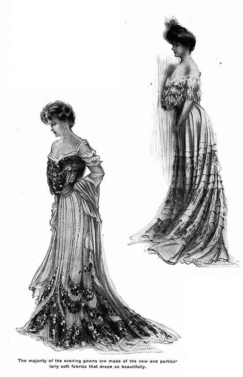 Soft Fabric Evening Gown 1904