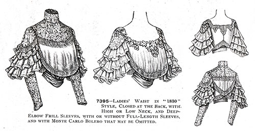 "7395—Ladies' Blouse in ""1830"" Style"