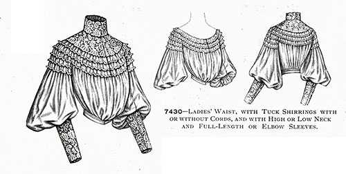 7430—Ladies' Blouse, with Tuck Shirrings