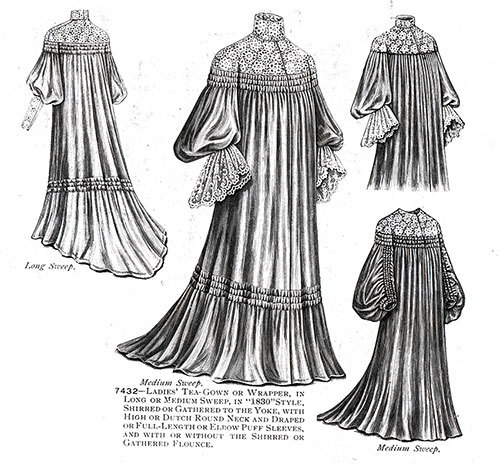 Ladies' Tea-Gown or Wrapper No. 7432