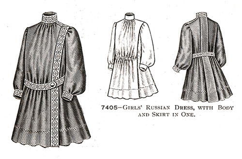Girls' Russian Dress No. 7405