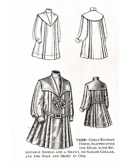 Girls' Russian Dress No. 7428
